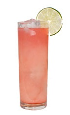 Amazon Dreams - The Amazon Dreams drink is made from VeeV Acai Spirit and guanabana juice, and served in a chilled collins glass.