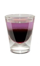 Bachelorette Party Shot - The Bachelorette Party Shot is made from Hpnotiq Harmonie and creme de casis layered in a chilled shot glass.