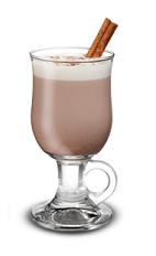 Hot Mint Chocolate - The Hot Mint Chocolate drink is made from Baileys Irish Cream, peppermint schnapps and hot cocoa, and served in a coffee glass or an Irish coffee glass.