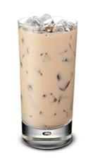 Baileys Iced Coffee - The Baileys Iced Coffee drink is made from Baileys Irish Cream and coffee, and served in a highball glass.