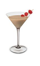 Baileys Raspberry Martini - The Baileys Raspberry Martini is a luxurious cocktail made from Godiva chocolate liqueur, Baileys Irish Cream and raspberry vodka, and served in a chilled cocktail glass.