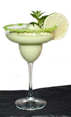 Bajarita - The Bajarita drink is made from tequila, avocado, half-and-half and lime juice, and served in a chilled sugar-rimmed margarita glass.