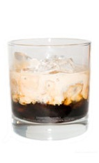 Black Magic - The Black Magic drink is made from pumpkin pie cream liqueur and Kahlua coffee liqueur, and served in an old-fashioned glass.