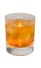 Black Magic Spice - The Black Magic Spice drink is made from gin, pumpkin spice liqueur, peach brandy and club soda, and served in an old-fashioned glass.