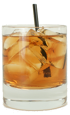 Black Dog - The Black Dog drink is made from Bourbon, Dry Vermouth and Blackberry Brandy, and served in an old-fashioned glass.