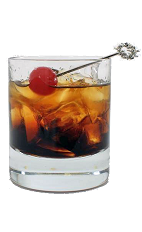 Black Russian - The Black Russian drink is made from Vodka and Kahlua, and served over ice in an old-fashioned glass.