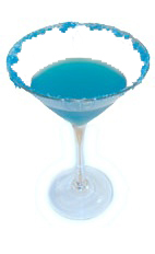 Blue Devil - The Blue Devil cocktail is made from Gin, Maraschino Liqueur, Blue Curacao and fresh lime juice, and served in a chilled cocktail glass.