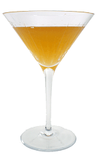 Picture of Bourbon Sidecar. The Bourbon Sidecar cocktail is made from Bourbon, Triple Sec and fresh lemon juice, and served in a chilled cocktail glass.