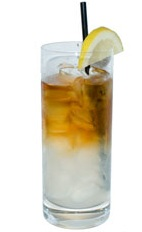 Brandy Fix - The Brandy Fix drink is made from Brandy, fresh lemon juice, sugar and mineral water, and served in a chilled highball glass.