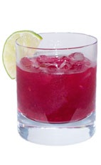 Cactus Caipirinha - The Cactus Caipirinha drink is made from cachaca, prickly pear cactus fruit, sugar and lime juice, and served in an old-fashioned glass.