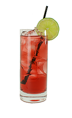 Cape Codder - The Cape Codder drink is made from vodka, cranberry juice and a lime slice, and served in a highball glass.