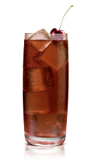 Chocolat Kokonut Coke - The Chocolat Kokonut Coke drink is made from Stoli Chocolat Kokonut vodka and Coke, and served in a highball glass.