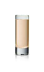 Chocolat Kokonut Confection - The Chocolat Kokonut Confection shot is made from Stoli Chocolat Kokonut vodka and Irish cream, and served in a chilled shot glass.
