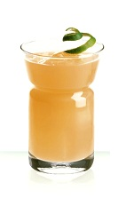 Citrus - The Citrus drink is made from Cointreau orange liqueur, grapefruit juice and lime juice, and served in a highball glass.