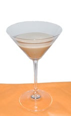 Coco Chanel - The Coco Chanel cocktail is made from Gin, Coffee Liqueur and half-and-half, and served in a chilled cocktail glass.