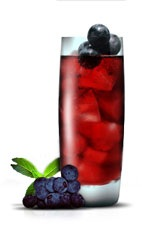 Concord Collins - The Concord Collins drink is made from Jose Cuervo silver tequila, green Chartreuse, concord grapes and hibiscus tea, and served in a highball glass.