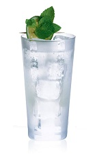 Crazy Mint - The Crazy Mint drink is made from Cointreau, club soda and lime juice, and served in a highball glass.