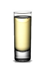 Cuervo Shot - The Cuervo Shot is made from Jose Cuervo Gold tequila, a pinch of salt and a lime wedge, and served in a shot glass.