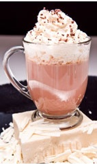 Deep Chocolate - The Deep Chocolate drink is made from cachaca, Irish cream, vanilla liqueur, hot cocoa and whipped cream, and served in an Irish coffee glass or a mug.