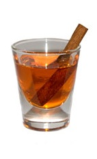Firepit Shot - The Firepit Shot is made from sambuca and pumpkin spice liqueur, and served in a chilled shot glass.