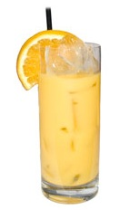 Florida - The Florida drink is made from Gin, Kirschwasser, Cointreau, fresh lemon juice and fresh orange juice, and served in a chilled highball glass.