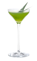 The forbidden fruit cocktail is made from zubrowka vodka for Cocktail kiwi vodka