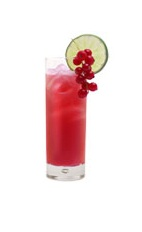 Grand Romance - The Grand Romance drink is made from Grand Marnier, Angostura bitters, lime juice, cranberry juice and raspberry syrup, and served in a highball glass.