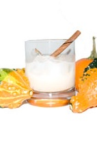Picture of Halloween Harvest. The Halloween Harvest drink is made from rum, pumpkin pie cream liqueur and cinnamon, and served in an old-fashioned glass.