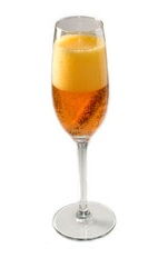 Ichabods New Year - The Ichabods New Year drink is themed from Ichibod Crane of The Legend of Sleepy Hollow. Made from champagne and pumpkin spice liqueur, it is best served in a chilled champagne flute.