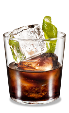Kahlua Lime Rocks - The Kahlua Lime Rocks drink is made from Kahlua coffee liqueur and fresh lime, and served in an old-fashioned glass.