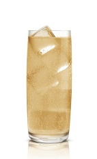 Karamel Cream Soda - The Karamel Cream Soda drink is made from Stoli Salted Karamel Vodka and cream soda, and served in a highball glass.