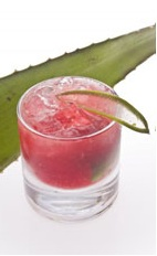 Leblon Fresca - The Leblon Fresca drink is made from cachaca, apple juice, beet juice, triple sec and ginger, and served in an old-fashioned glass.