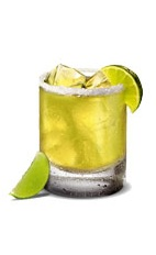 Margarita on the Rocks - The Margarita on the Rocks drink is made from Jose Cuervo tequila, margarita mix and lime, and served in a salt-rimmed old-fashioned glass.