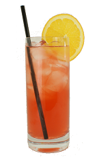 Midnight Cowboy - The Midnight Cowboy drink is made from Bourbon, fresh lemon juice, grenadine, Southern Comfort and sparkling water, and served in a chilled highball glass.