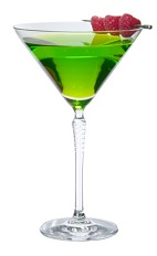 Midori Cosmopolitan - The Midori Cosmopolitan cocktail is made from Midori melon liqueur, citrus vodka, cranberry juice and lemon juice, and served in a chilled cocktail glass.