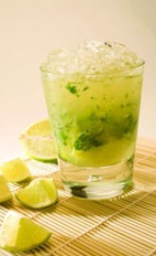 Mint Caipirinha - The Mint Caipirinha drink is made from cachaca, mint and lime, and served in an old-fashioned glass.