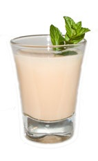 Mint Pumpkin - The Mint Pumpkin shot is made from Fultons Harvest pumpkin pie cream liqueur and peppermint schnapps, and served in a shot glass.