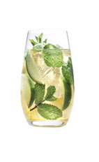 Mojito Grande - The Mojito Grande drink is made from Grand Marnier, lime, mint leaves and club soda, and served in a highball glass.