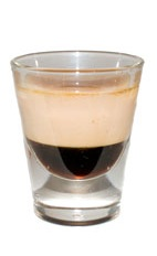 Nutty Pumpkin - The Nutty Pumpkin shot is made from Kahlua coffee liqueur, pumpkin pie cream liqueur and Disaronno, and served in a chilled shot glass.