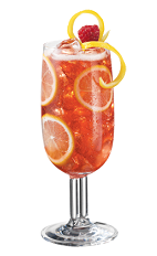 Lemonade PAMA - The Lemonade PAMA drink is made from PAMA Pomegranate Liqueur, citrus vodka, raspberry and lemonade, and served in a parfait glass.