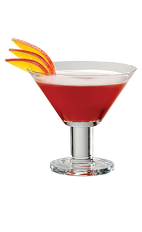 Peacock Cocktail - The Peacock Cocktail is made from PAMA Pomegranate Liqueur, citrus vodka, cranberry juice and sour mix, and served in a chilled cocktail glass.