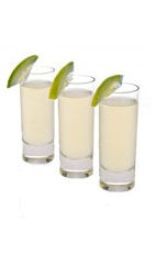 Piranha Shot - The Piranha shot is made from Leblon Cachaca and a lime wedge, and served in a chilled shot glass.