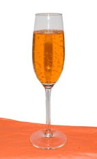 Pumpkin Celebration - The Pumpkin Celebration drink is made from pumpkin spice liqueur and champagne, and served in a chilled champagne flute.