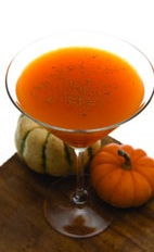 Pumpkin Martini - The Pumpkin Martini cocktail is made from cachaca, French vanilla liqueur, hazelnut liqueur, pumpkin spice syrup, pumpkin puree, orange juice, nutmeg and cinnamon, and served in a chilled cocktail glass.