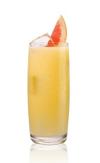 Salted K Dog - The Salted K Dog drink is made from Stoli Salted Karamel Vodka and grapefruit juice, and served in a highball glass.