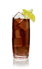 Kola Salted - The Kola Salted drink is made from Stoli Salted Karamel Vodka and cola, and served in a highball glass.