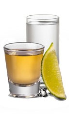 Shot of Cuervo - The Shot of Cuervo is made from Jose Cuervo Gold or Silver tequila, and combines the flavors of tequila, salt and lime, served in a chilled shot glass.