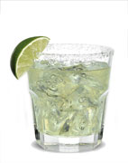 Silver Margarita - The Silver Margarita drink is made from Jose Cuervo silver tequila, lime margarita mix and salt, and served in an old-fashioned glass.