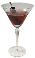Simply Red Cocktail - The Simply Red cocktail is made from gin, Chambord raspberry liqueur and lemon juice, and served in a chilled cocktail glass.