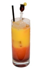 Sloe Screw - The Sloe Screw drink is made from Sloe Gin and orange juice, and served in a chilled highball glass.